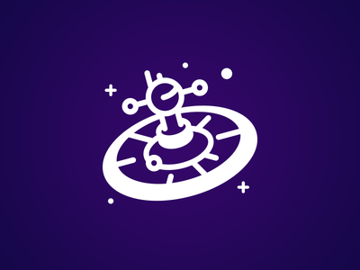 Space Casino Logo Concept design vector casino space illustration mark branding logo