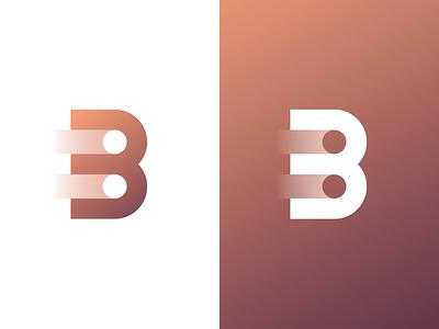 Advancing Bitcoin Logo gradient bitcoin brand b illustration branding mark logo