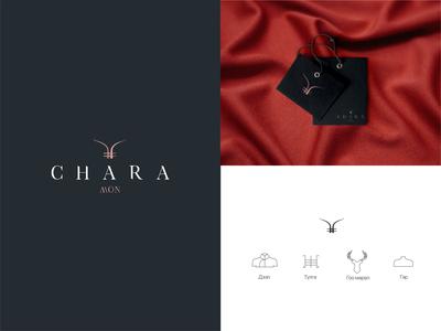 Chara mon cashmere vector branding logo luxury logo luxury red mongolia design national
