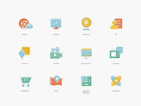 a series of icons for agency