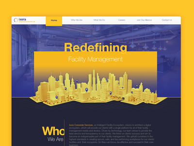 Facility management website facility management web site home page