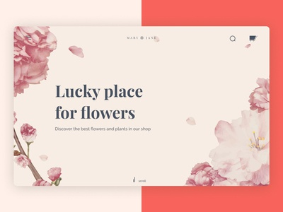 Flower shop hero page