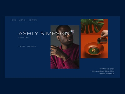 Personal Portfolio Template with Two Photos