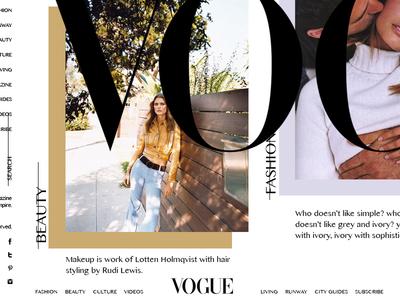 Vogue solid modern white black style fashion vogue