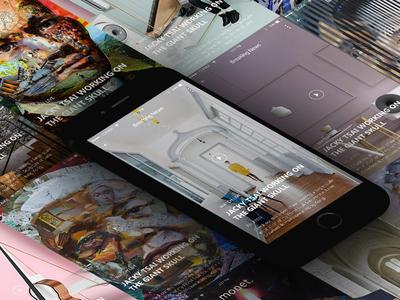 Monet UI Kit Design artist art interface phone designi ui mobile