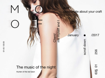 Dribble typography interation ux ui night music
