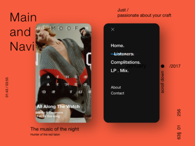 MOOF ux ui red indian night life music