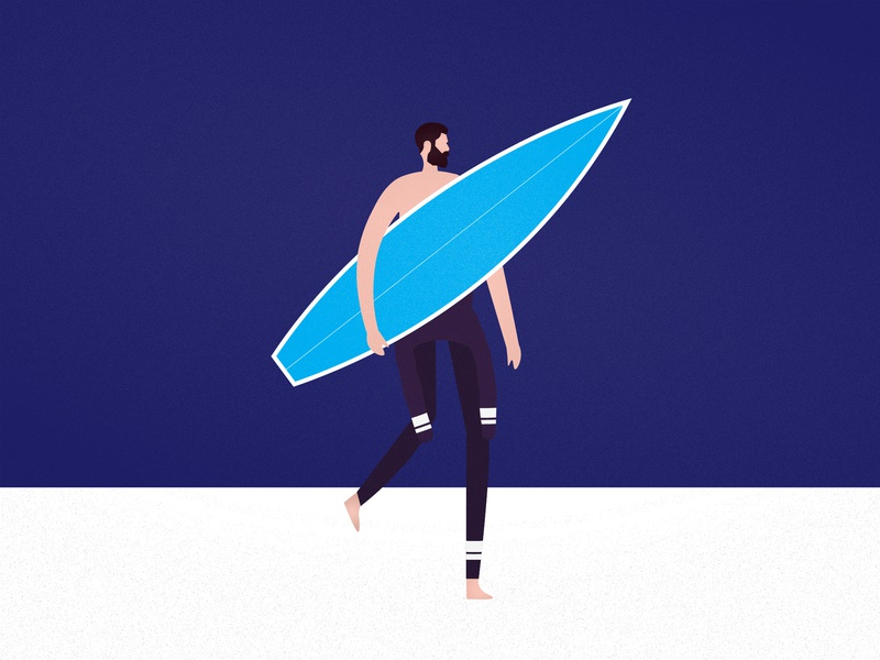 The endless summer clean minimalism seal beach illustration surfing surf