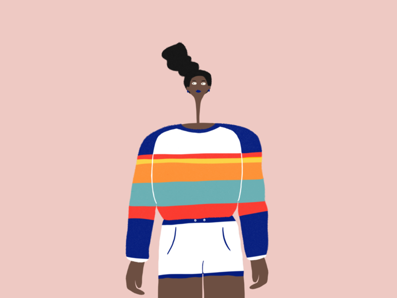 She's a lady design illustration character clean ui