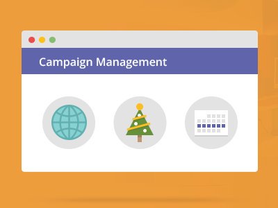 Campaign management illustration web flat