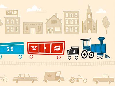Channeling M. Sasek... kind of train vintage illustration