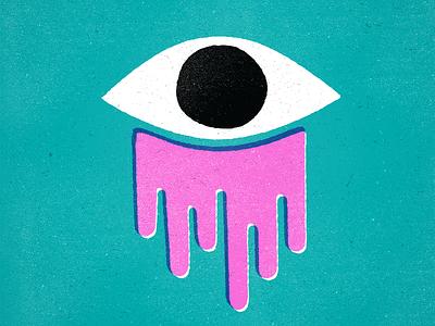 Sleep in the eye eye illustration