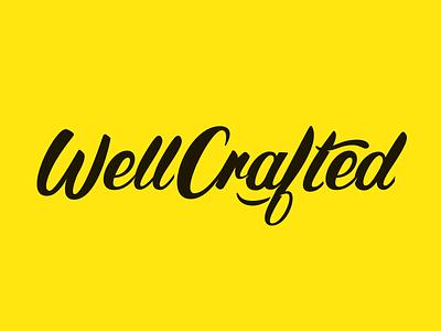 WellCrafted wordmark logo chalk lettering hand lettering