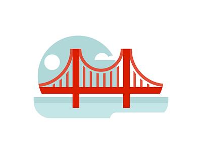 Golden Gate Bridge san francisco bridge illustration