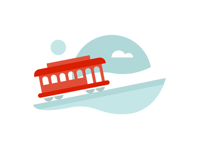 Cable Car mister rogers cable car trolley san francisco illustration