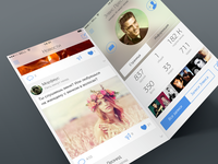 vk.com iOS 7 concept, white edition