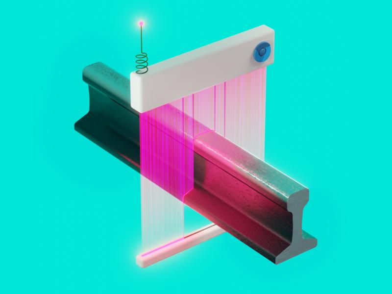 Proper browser testing in Ruby on Rails texture metal laser scanning rails blender3d blender 3d illustration