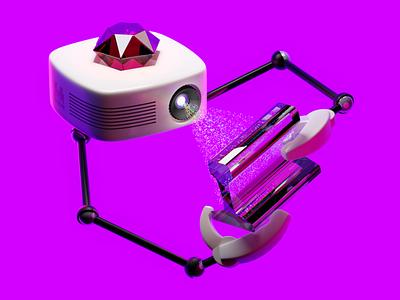 Robust Rails browser testing with SitePrism robot ruby glass projector light scanning rails illustration blender3d blender 3d