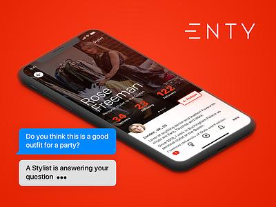 Enty Stylists' Profile enty app profile iphone ios