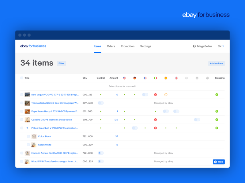 eBay for business UI Kit web uikit ebay