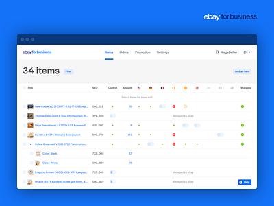 eBay for business UI Kit web uikit ebay