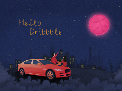Hello dribbble! design illustration