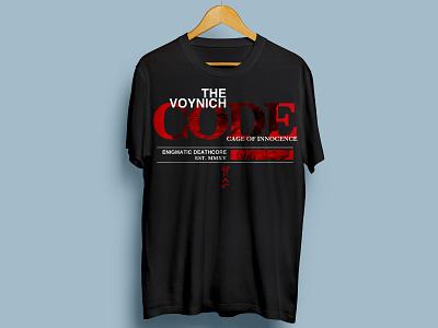 The Voynich Code - T-shirt Merchandise band merch merch design merchandise merch red typography type death metal deathcore metal band metal t-shirt design t-shirt band artwork illustration design
