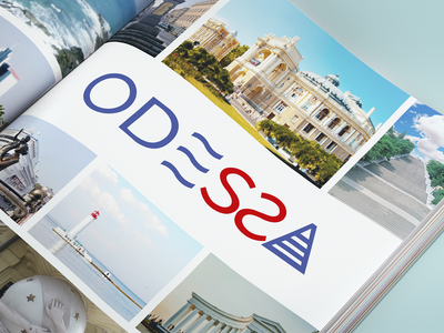 Odessa - City tourism identity design sea city branding blue graphicdesign design logo typography identity branding graphic design vector city logo logotype