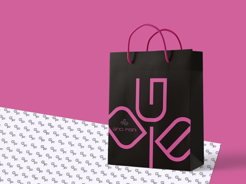Bag packing flower packing design packing icon pattern branding vector identity logo graphic design bag