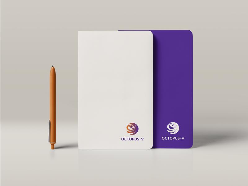 Visual Brand Identity Octopus - V octopus orange purple notebook logotype branding logo identity vector graphic design