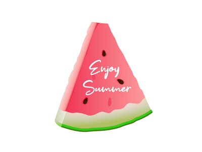 Enjoy summer delicious sweet red watermelon summer enjoy the moment typography illustration green vector graphic design
