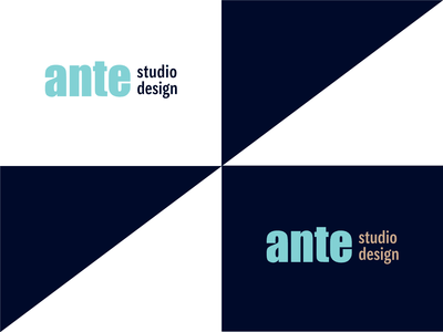 Ante Logotype studio design ante typography branding identity logotype logo vector graphic design
