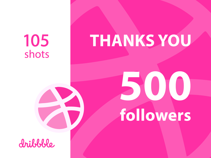 500 Followers, Thanks You Everyone 500 thanks typography followers visual design poster vector graphic design