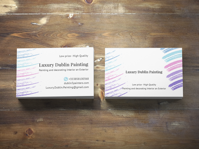 Business card luxury Dublin Painting decorating luxury visual design business card design typography pattern branding identity vector graphic design