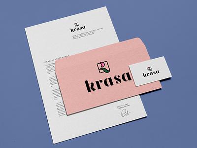 Identity Krasa logotype icon branding vector logo identity graphic design