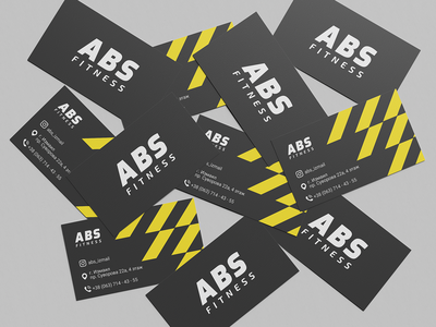 ABS fitness business cards business card fitness brandidentity brand businesscard typography pattern logotype branding logo identity vector graphic design