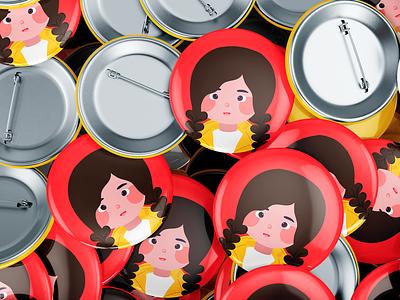 Вrand character Knopa character smal gerl illustration identity vector illl branding graphic design