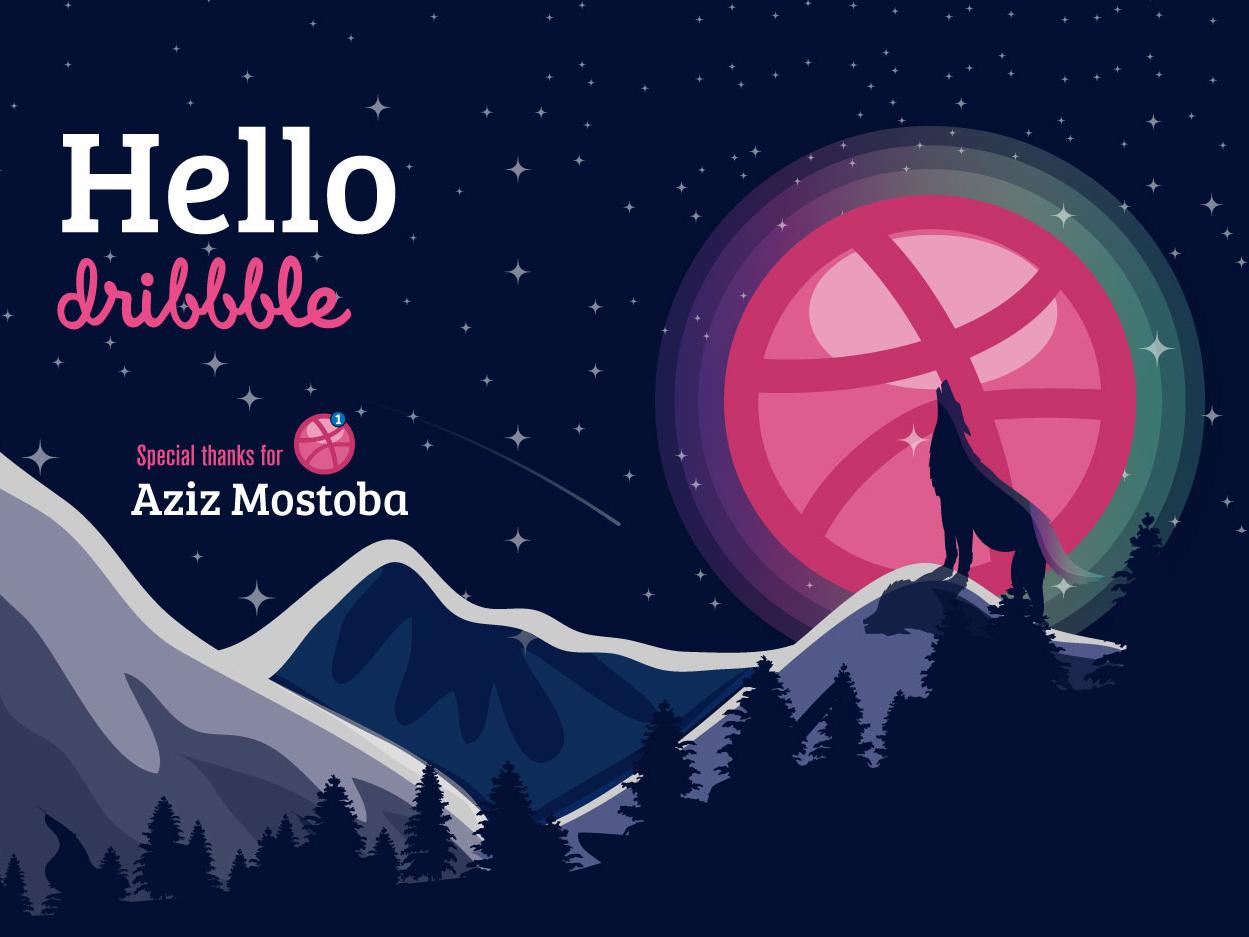 Hello Dibbble hello dribbble invitation firstshot debut shot dribbblers debut debutshot design web vector illustration