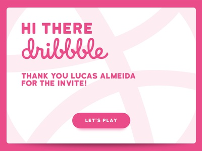 Hi there Dribbble! thanks debut