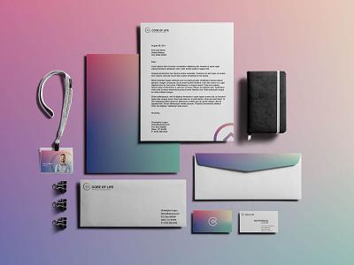 Core of life   Visual Identity identity c core gradients minimal vector simple logo branding brand colors design