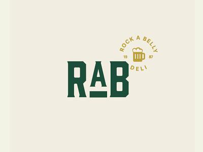 RAB Visual Identity design retro green vector logo illustration identity branding typography brand design