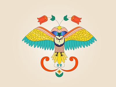 OWL 🦉 bird icon bird colorful icon identity logo vector illustration owl illustration colors animal owl