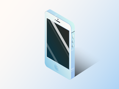 Site and Guide Art: Isometric Phone gear vr pixel galaxy vector detail mobile vr gradient gleam isometric smart phone phone iphone