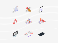 Services Isometric Icons 2018