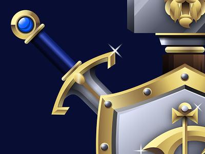 Detail Shot - Alliance vector gold gleam gradient lordaeron lothar thrall alliance horde blizzard world of warcraft warcraft