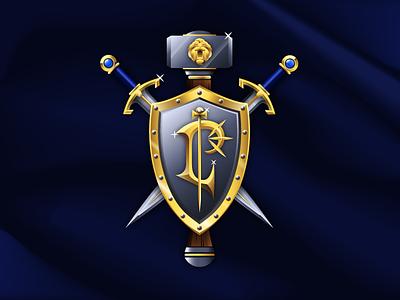 For the Alliance! hammer shield sword azeroth sylvanas hearthstone diablo starcraft warcraft world of warcraft blizzard horde alliance thrall process lordaeron gradient gleam gold vector