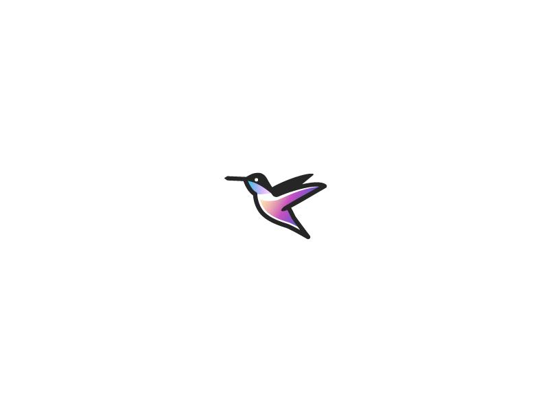 Quick Doodle: Hummingbird animal nectar design symbol emblem sigil vector gradient hummingbird bird line simple logo branding mark humming icon illustration minimal monoline