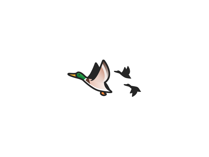 Quick Doodle: Mallard Duck vector fowl water hunting sigil symbol emblem lake mallard bird line simple logo branding mark flock icon illustration minimal monoline