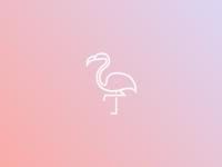 Pink Flamingo - Monoline