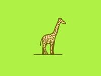 Giraffe just bein a giraffe - Monoline